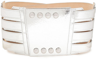 Balmain Metallic Leather Belt