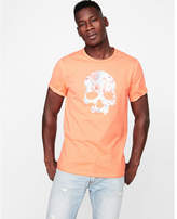 Express floral skull graphic tee