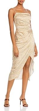 Bec & Bridge Zoe Daisy Print Silk Slip Dress