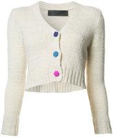 The Elder Statesman cashmere V-neck cropped cardigan - women - Cashmere - M