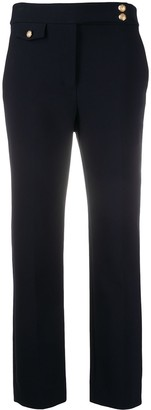 Veronica Beard Renzo embossed button detail trousers