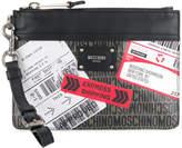 Moschino printed clutch bag