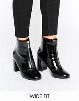 Asos ELSPETH Wide Fit Zip Front Boots