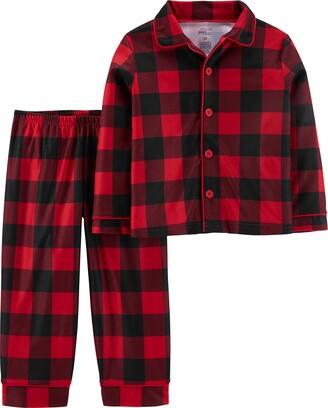 Simple Joys by Carter's Boys' Toddler 2-Piece Coat Style Pajama Set
