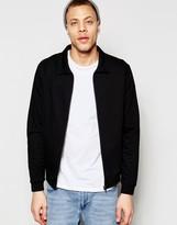 Asos Jersey Harrington Jacket In Black