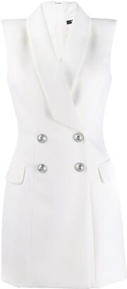 Balmain Sleeveless Blazer Dress