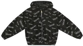 Versace Kids Logo nylon jacket
