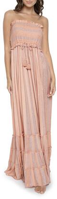 PQ Swim Charlotte Smocked Striped Coverup Dress