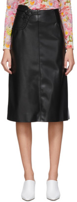 Commission SSENSE Exclusive Black Faux-Leather A-Line Skirt