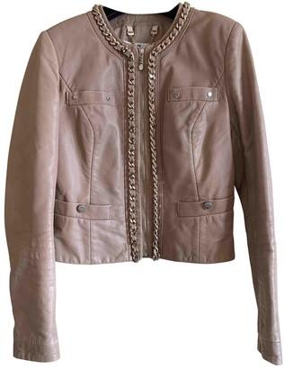 Elisabetta Franchi Beige Leather Jacket for Women
