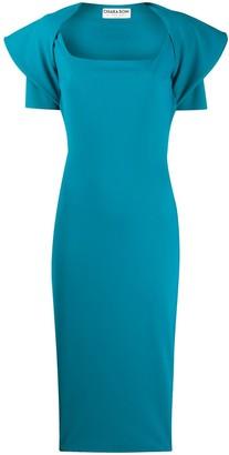 Le Petite Robe Di Chiara Boni Draped Shoulder Midi Dress