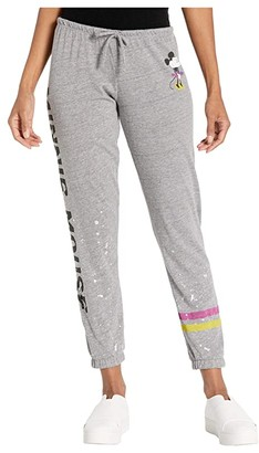 Chaser Disney(r) Minnie Mouse Classic Minnie Tri-Blend Slouchy Lounge Pants (Streaky Grey) Women's Casual Pants