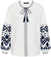 Hallhuber Embroidered ethnic blouse