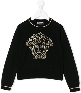 Versace Medusa knit jumper