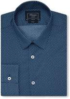 T.M.Lewin Men's Print Fully Fitted Classic Collar Formal Shirt