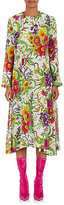 Balenciaga Women's Floral & Leopard Silk-Blend Maxi Dress