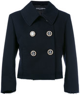 Dolce & Gabbana double-breasted cropped jacket - women - Cotton/Viscose - 42