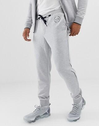 Armani Exchange logo sweat joggers in grey