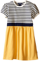 Toobydoo Short Sleeve Dress w/ Yellow Skirt (Infant/Toddler)