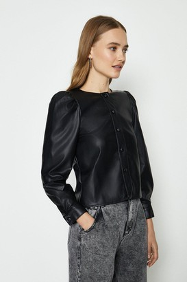 Coast Pu Puff Sleeve Shirt