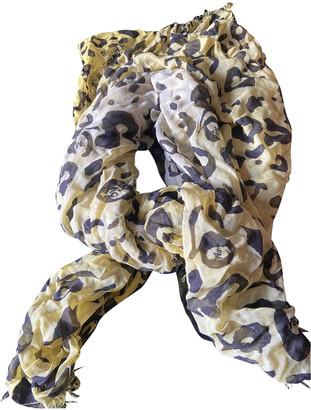 McQ Yellow Silk Scarves