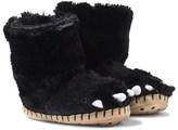 Hatley Fuzzy Bear Paw Slippers