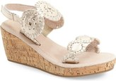 Jack Rogers 'Miss Luccia' Wedge Sandal (Little Kid & Big Kid)