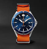 Baume & Mercier Clifton Club Automatic 42mm Stainless Steel And Rubber Nato Watch - Orange