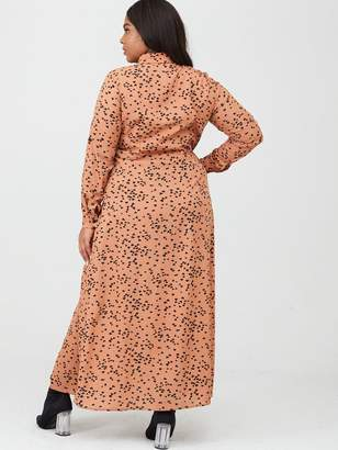 AX Paris Curve Maxi Shirt Dress - Rust