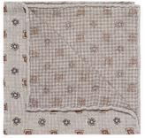 Brunello Cucinelli Square Floral Print Pocket Square