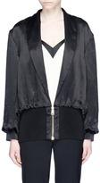 Lanvin Shawl lapel satin bomber jacket