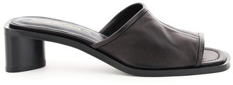 Acne Studios LEATHER MULES 36 Black Leather