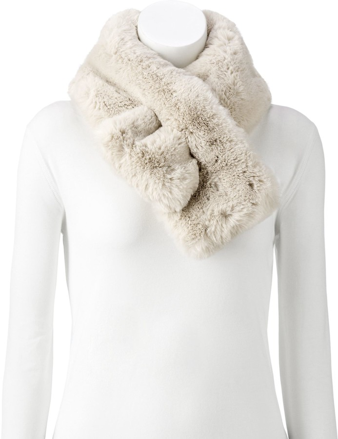 White Fur Stole >> Women S Faux Fur Stole Scarf