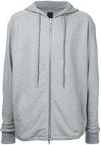 Juun.J tonal zipped hoodie - men - Cotton - 46