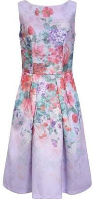 Dorothy Perkins Womens Chi Chi London Purple Floral Print Alodie Dress, Purple