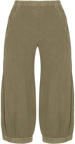 Inca Plus Size Tapered cotton linen trousers