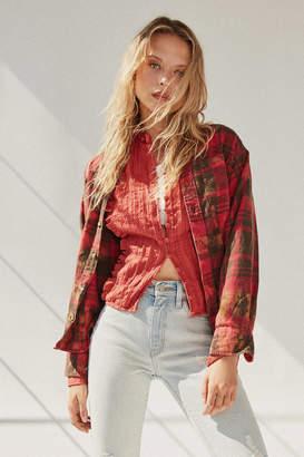 Urban Renewal Vintage Recycled Bleach Splatter Flannel Shirt