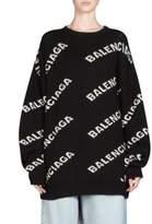 Balenciaga Allover Logo Sweatshirt