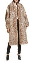 Alexander Wang Cheetah Print Oversize Faux Fur Coat