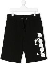 Diadora Junior logo-print track shorts