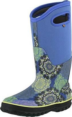 Bogs Women's Classic Tall Mandala Waterproof Rain Boot