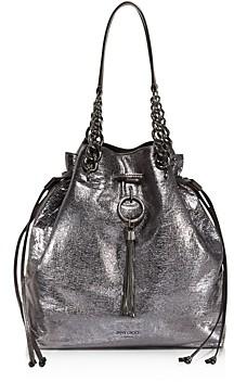 Jimmy Choo Callie Large Metallic Bucket Bag