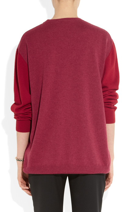 Stella McCartney Color-block cashmere sweater
