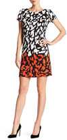Maggy London Abstract Spot Scuba Shift Dress