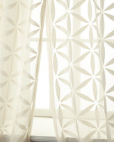 """Horchow Softline Home Fashions Each 55""""W x 108""""L Starburst Sheer"""