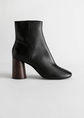 And other stories Almond Toe Leather Ankle Boots