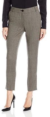 Pendleton Women's Petite Size Herringbone Worsted Slim Ankle Pants
