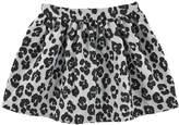 Moschino Short flared jacquard skirt