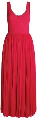 Alexander McQueen Long Pleated Dress