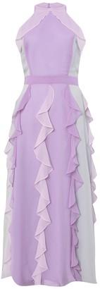 True Decadence Pastel Multi Chiffon Ruffled Maxi Dress